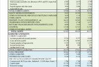 Sample Accounting Balance Sheet – 7+ Examples In Word, Pdf throughout Quality Business Plan Balance Sheet Template