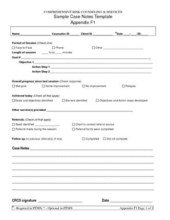 Sample Case Notes Template Appendix F1 - Share Pdf in Template For Business Case Presentation
