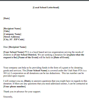Sample Local Donation Request Letter, Sample Letter Asking pertaining to Unique Business Donation Letter Template