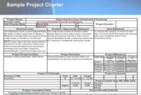 Sample Project Charter   Template Business with Best Business Charter Template Sample