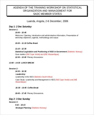 Sample Training Agenda - 9+ Examples In Pdf, Word regarding Program Agenda Template