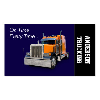 Semi-Truck Business Cards, 125 Semi-Truck Business Card inside Transport Business Cards Templates Free
