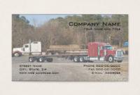Semi Truck Business Cards & Templates | Zazzle throughout Transport Business Cards Templates Free