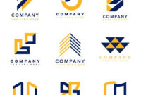 Set Of Company Logo Design Ideas Vector – Download Free in Best Business Logo Templates Free Download