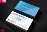 Simple Business Card | Business Card Psd, Personal intended for Professional Business Card Templates Free Download