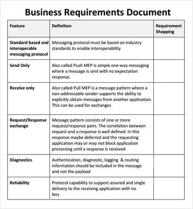 Simple Business Requirement Document Template | Business within Fresh Writing Business Cases Template