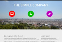 Simple Company Free Website Template | Free Css Templates intended for New Estimation Responsive Business Html Template Free Download