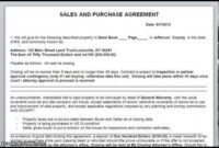 Simple Land Purchase Agreement Form | Business Mentor for Free Business Purchase Agreement Template