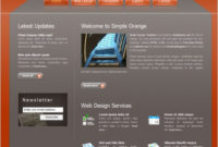 Simple Orange Free Website Templates In Css, Html, Js in Business Website Templates Psd Free Download