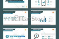Simple Presentation Templates Set. Blue Simple within Presentation Handout Template