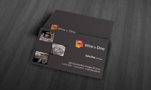 Simple Restaurant Business Card Template » Free Download for Plain Business Card Template Microsoft Word