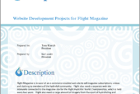 Small Business Web Site Project Proposal – 5 Steps inside Basic Business Website Template