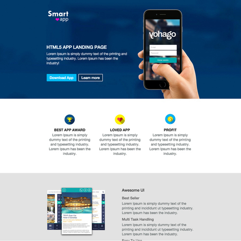 Smartapp Free Responsive Website Template with regard to Quality Template For Business Website Free Download