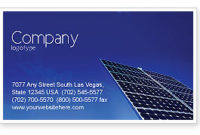 Solar Panels Rising Up Power Business Card Template regarding Quality Business Card Template Word 2010