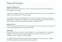 Staff Recruitment Policy Template For Recruitment Agencies with regard to Staffing Agency Business Plan Template