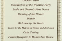 Stationery Checklist For A Wedding - Wedessence throughout Wedding Ceremony Agenda Template