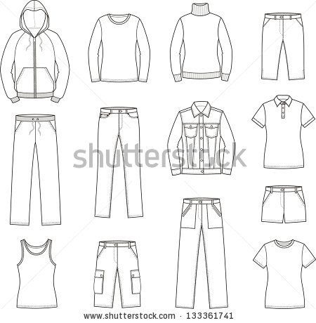 Stock-Vector-Vector-Illustration-Of-Women-S-Casual-Clothes inside Business Attire For Women Template