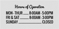 Store Hours Signs & Templates | Signs Intended For New Printable Business Hours Sign Template