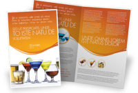Strong Drinks Brochure Template Design And Layout in New Food Business Cards Templates Free
