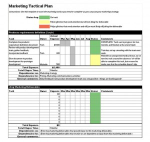Tactical Marketing Plan Template | Marketing Tactical Plan with Unique Business Plan Template For Service Company