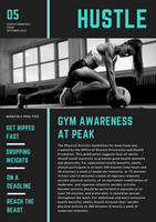Teal Gray Gym Fitness Newsletter - Templatescanva regarding Business Plan Template For A Gym