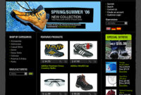 Templates For A Shoes Stores Websites – Drawing Inspiration for Fresh Online Store Business Plan Template