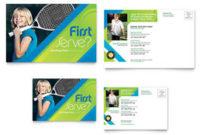 Tennis Club & Camp Tri Fold Brochure Template Design throughout Best Free Dance Studio Business Plan Template