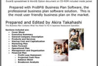 The Business Plan For Your Japanese Restaurant | Business within Business Plan For Cafe Free Template