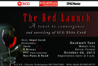 The Kalman Chronicle: The Launching Of Scg Elite Card with Best Business Launch Invitation Templates Free