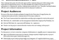 The Project Communication Plan – Mpug throughout Internal Business Proposal Template