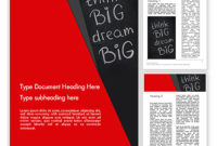 Think Big Dream Big On Chalk Board Powerpoint Template for Business Canvas Word Template