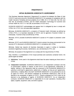 This Business Associate Agreement (Agreement) Is Entered throughout Business Associate Agreement Hipaa Template