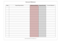This Form Allows You To Keep Track Of Your Account inside Small Business Balance Sheet Template