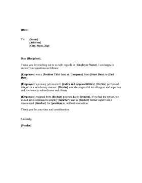 This Printable Reference Letter Uses Professional And in Business Reference Template Word