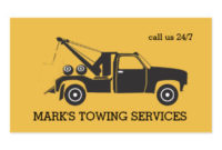 Towing Business Cards & Templates | Zazzle pertaining to Quality Towing Business Plan Template