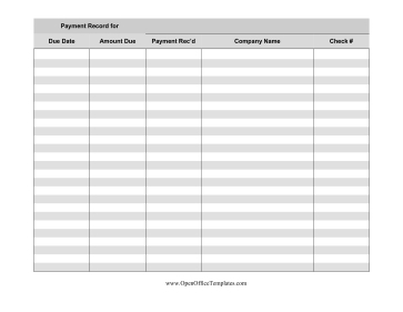 Track Payments, Amount Due, And Account Information With with Accounting Firm Business Plan Template