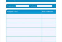 Training Plan Template | Template Business in Training Agenda Template