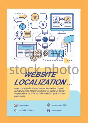 Translation Service Process Vector Infographic Template intended for Business Process Catalogue Template