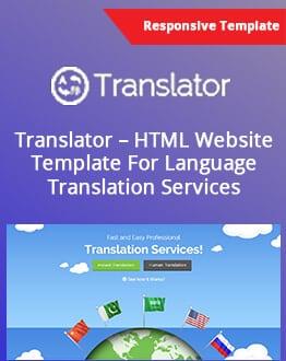 Translator Html Website Template For Language Translation regarding Estimation Responsive Business Html Template Free Download