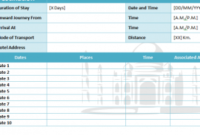 Travel Itinerary Template – My Excel Templates regarding One Page Business Plan Template Word