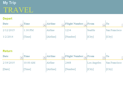Trip Planner for Virtual Meeting Agenda Template