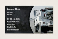 Trucking Business Cards And Business Card Templates pertaining to Quality Towing Business Plan Template
