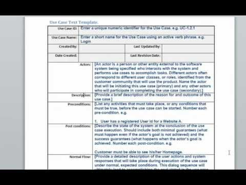 Use Case Text Template - Youtube throughout How To Create A Business Case Template