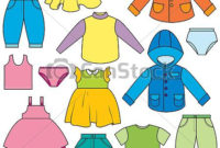 Vector Clipart Of Children'S Clothing – A Set Of Different pertaining to Clothing Store Business Plan Template Free