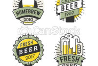 Vector Line Art Badge. Craft Beer Logo. Vintage Label For pertaining to Brewery Business Plan Template Free