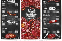 Vector Menu Or Price List For Butchery Shop Meat. Butchery throughout Free Poultry Business Plan Template