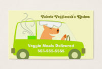 Vegetarian Business Cards & Templates | Zazzle throughout Food Delivery Business Plan Template