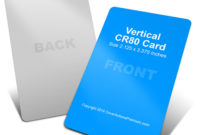 Vertical Cr80 Credit Card Mock Up | Cover Actions Premium with Quality Photoshop Cs6 Business Card Template