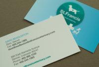 Veterinary Business Card Template | Inkd Pertaining To New Front And Back Business Card Template Word