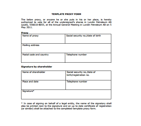 Voteproxy Template in Homeowners Association Meeting Agenda Template